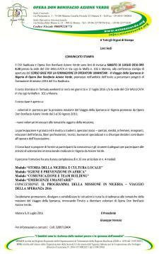 CORSO BASE PER LA FORMAZIONE DI OPERATORI UMANITARI  - Matera