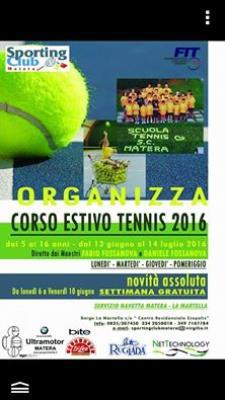 Corso estivo Tennis 2016 - Matera