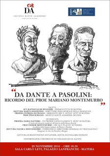 Da Dante a Pasolini: ricordo del prof. Mariano Montemurro - Matera