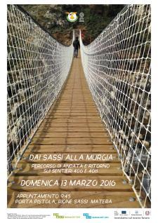 Dai Sassi alla Murgia, i sentieri 406 e 408 - 13 Marzo 2016 - Matera