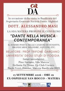 Dante nella musica contemporanea - 15 settembre 2016 - Matera