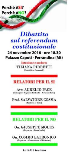 Dibattito sul referendum costituzionale - Matera