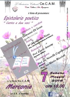 Epistolario poetico - Canto a due voci - 7 Maggio 2016 - Matera