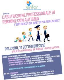 Esperto in abilitazione professionale per persone con autismo - 10 settembre 2016 - Matera