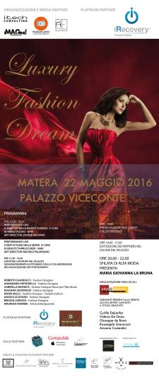 Fashion Luxury Dream - 22 Maggio 2016 - Matera
