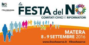 Festa del No - 8 e 9 settembre 2016 - Matera