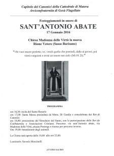 Festeggiamenti in onore di Sant'Antonio Abate  - 17 Gennaio 2016 - Matera