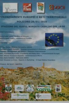 Finanziamenti Europei e Reti territoriali - 29 Gennaio 2016 - Matera