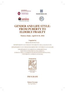 Gender and life style: from puberty to elderly frailty - Matera