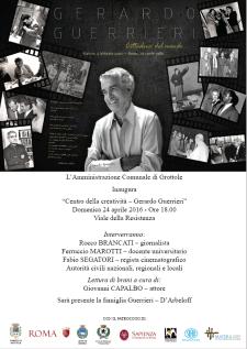 Gerardo Guerrieri: trent'anni di riscoperte (1986 – 2016) - Matera