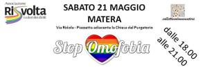 Giornata internazionale contro l'omofobia  - 21 Maggio 2016 - Matera