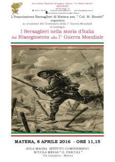 I Bersaglieri nella storia d'Italia dal Risorgimento alla 1° Guerra Mondiale - 8 Aprile 2016 - Matera