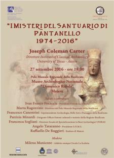 I MISTERI DEL SANTUARIO DI PANTANELLO 1974-2016 - Matera