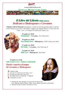 Il Libro del Libraio, OMAGGIO A SHAKESPEARE E CERVANTES - Matera