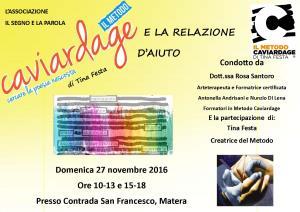 IL METODO CAVIARDAGE E LA RELAZIONE D'AIUTO - 27 novembre 2016 - Matera