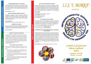 Imprenditorialità giovanile: dal pensiero all'azione - 6 Giugno 2016 - Matera
