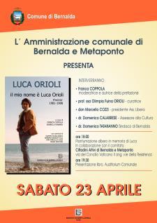 In memoria di Luca Orioli - Matera