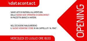 Inaugurazione della Nuova sede operativa di Datacontact  - Matera