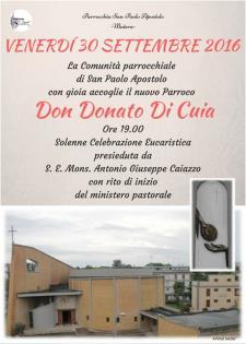Inizio ministero parrocchiale di don Donato Di Cuia - Matera