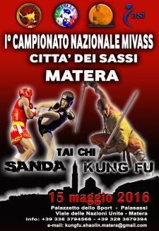 I° Campionato Mivass Citta dei Sassi di Kung-Fu, Sanda e Tai Chi - 15 Maggio 2016 - Matera