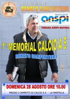 I° MEMORIAL CALCIO A 5 RENATO CARPENTIERI - 28 agosto 2016 - Matera