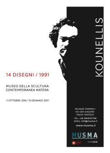 Kounellis/14 disegni/1991 - Matera