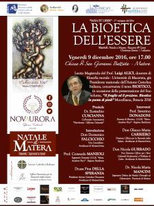 LA BIOETICA DELL'ESSERE - 9 dicembre 2016 - Matera