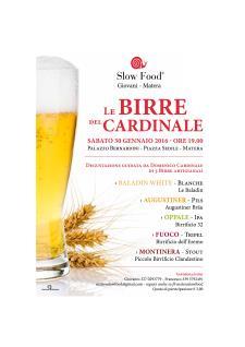 Le Birre del Cardinale - 30 Gennaio 2016 - Matera