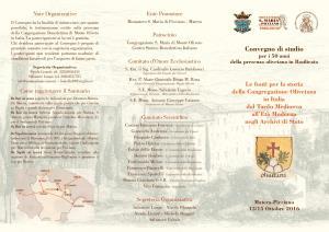Le fonti per la storia della Congregazione Olivetana in Italia dal Tardo Medioevo all'Età Moderna negli Archivi di Stato - Matera