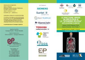 """Le macchine ibride in oncologia & la """"spending review"""" applicazioni cliniche  - Matera"""