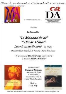Le Novelle �La Moneda de or� � U�mar U�mar� di Beatriz Bucello - 25 Aprile 2016 - Matera
