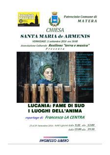 Lucania: Fame di sud – I Luoghi dell'Anima - Matera