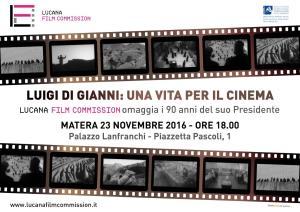 Luigi Di Gianni: Una vita per il Cinema - Matera