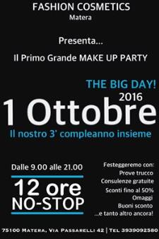 Make Up Party! - 1 ottobre 2016 - Matera