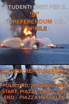 Marcia Referendaria per il referendum del 17 Aprile - Matera