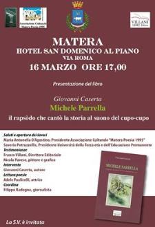 Michele Parrella - Il rapsòdo che cantò la storia al suono del cupo cupo - 16 Marzo 2016 - Matera