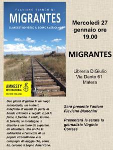 Migrantes - 27 Gennaio 2016 - Matera