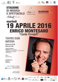 Montesano canta Trovajoli - 19 Aprile 2016 - Matera