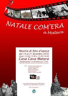 Natale com'era a Matera - dal 14 al 21 dicembre 2016 - Matera