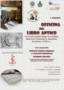 Officina del libro antico - 4� workshop - Matera
