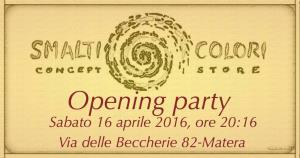 OPENING PARTY - Matera