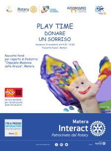 PLAY TIME, DONARE UN SORRISO - Matera