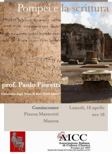 Pompei e la scrittura - 18 Aprile 2016 - Matera