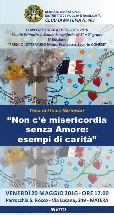 Premio Letterario Mons. Francesco Saverio Conese - Matera