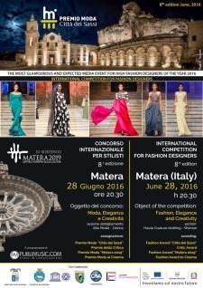 """Premio Moda """"Città dei Sassi"""" - Concorso Internazionale per stilisti 8^ edizione - Matera"""