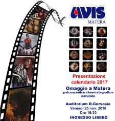 Presentazione del Calendario AVIS 2017 - Matera