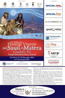 """PRESEPE VIVENTE 2016 NEI SASSI DI MATERA """"LAUDATO SII"""" - Matera"""