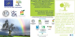 Progetto LIFE AgroClimaWater - 30 Gennaio 2016 - Matera