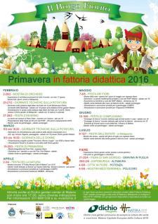 Programma culturale Il Borgo Fiorito 2016 - Matera