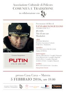 Putin - Vita di uno zar - 4 Febbraio 2016 - Matera